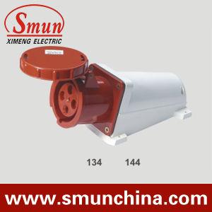 63A 125 A 4-контактный разъем для установки на стену, промышленного разъема IP67, PA66 220-415V