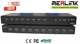 3D Supported 2X8 HDMI Splitter