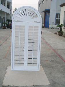 White Arch Indoor volets de fenêtre Z-cadres pour les maisons décoratif