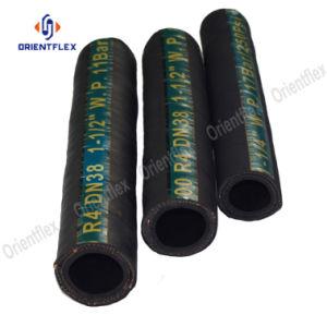 Trança de fios de alta pressão de borracha da mangueira hidráulica flexível