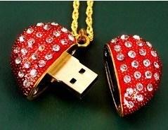 Lágrimas Colgante Gema Diamante de la unidad Flash USB.