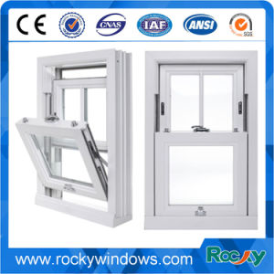 Revêtement En Poudre Blanche En Aluminium Fenêtres à Guillotine