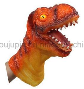 Tête d'animaux de dinosaures en plastique OEM Jouet de marionnettes à main