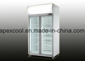 Congelatore dritto del doppio portello della cerniera