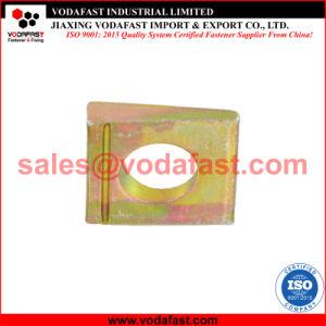 La norme DIN 435 carré en acier zingué jaune Wedge-Shaped rondelle pour I Section