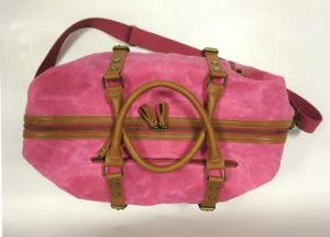 Des couleurs vives Les femmes voyageant Polochon PU Garniture en cuir sac dame