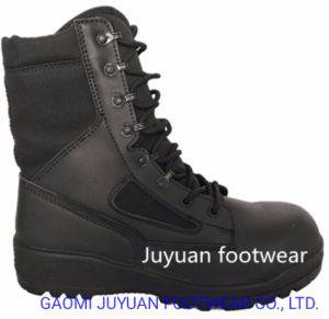 Seguridad de cuero botas altas inyecta Rb+suela PU