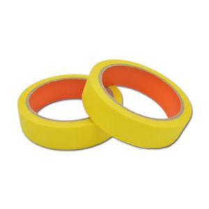 80 grados de cinta adhesiva de color amarillo para pintura automotriz
