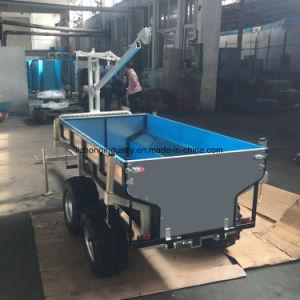 回転式ブーム1.5tの積載量ATVのトレーラーの材木、Craneatvユーティリティトレーラーが付いているATVのトレーラー