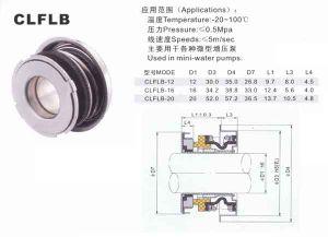A vedação mecânica para a bomba de pressão (FLB)