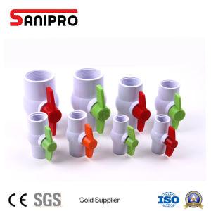 給水のためのSanipro 1/2  - 4  PVC球弁のプラスチック弁