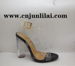 Sandales transparent avec talon claire
