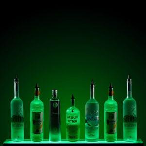 Pantalla LED de acrílico botella de vino, botella de licor de estante de la pantalla de LED