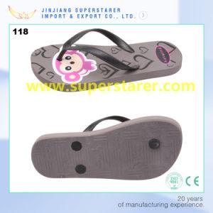 Couleur gris durable PE Slipper Flip Flops fabriqués en Chine