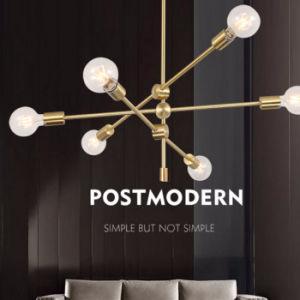 Post Moderno de bronce en interiores/Latón/Black Metal luces ...