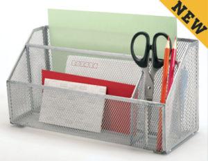 책상 조직자 금속 메시 문구용품 조직자 사무실 책상 부속품