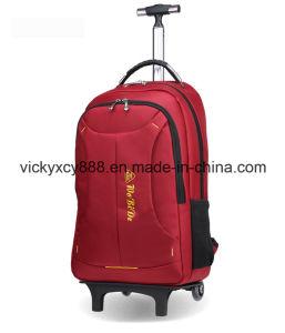 Doppelte Schulter fahrbarer Laufkatze-Gepäck-Geschäfts-Laptop-Rucksack-Beutel (CY1827)