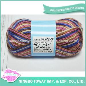 Tecelagem lã acrílica mesclado Tingidos de fios a granel Alta