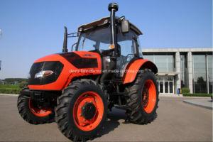 80Cv 4WD Hot-Sale mejor calidad de la cabina del tractor con ROPS dosel reductor lanza Paddy Tractor arado.
