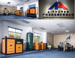 작업장 또는 나사 공기 압축기에 압축공기의 공급