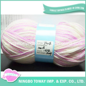 La lana de color personalizado Blended que teje a mano del arte de acrílico del hilado por la bufanda