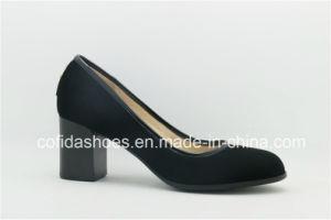 Conception simple confort Chunky Chaussures en cuir talon dame