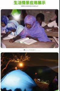 Sistema de iluminación solar 3W Lámpara LED solar de 6V 375lum Amanecer Global