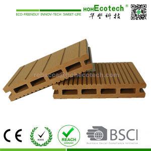 Terrassendielen (承認されるセリウム) WPCの屋外の空のDeckingの木製のプラスチック合成のDecking (HD100H17)