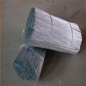 Galvanizado revestido de PVC//Recozido Fio de corte reto para a função de construção