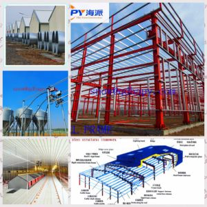 Estructura de acero para el ganado con la eficiencia y fácil instalación