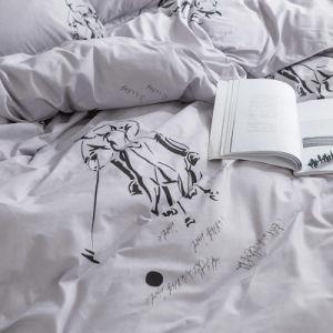Spätestes Produkt passte Typen Polyester-Bettwäsche-gesetztes Blatt-Bett-Set an