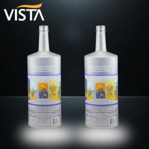 1L de Fles van het Glas van de Wijn van de Brandewijn van het Water van de Rum van de Wisky van de Wodka van de Geesten van de Alcoholische drank van de Geest 375ml 500ml 700ml 750ml met Duidelijk en Kleur Glasse met Schroefdop
