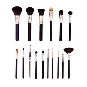 16 en 1 Hot Set pincel de maquillaje de las ventas de cosméticos Fundación Eyeshadow profesional las herramientas de la Ceja Eyeliner Colorete en polvo corrector contorno cepillo cosmético establecer & Case