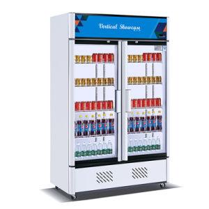 Libre verticale 1100permanent L vitrine de présentation des boissons de supermarchés réfrigérateur chiller