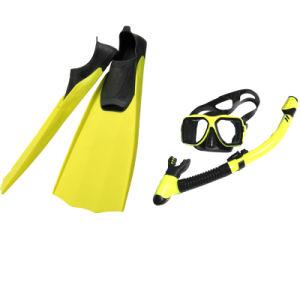 44a139a11 As aletas de Snorkeling Purga Panorâmica máscara de mergulho com snorkel  seco definido