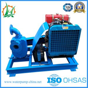 3 pouces de moteur Diesel à amorçage automatique entraîné par courroie pompe à eau centrifuge