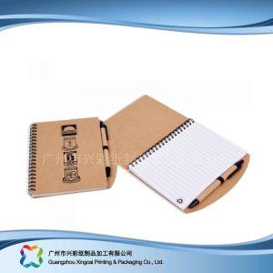 Kundenspezifischer Packpapier-Deckel-Tagebuch-Notizbuch-Planer des Firmenzeichen-A5 (Xc-stn-005)