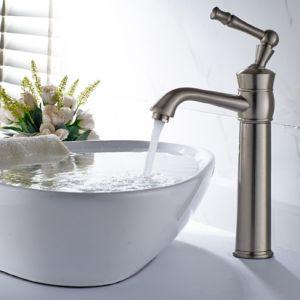 洗面器のコックの浴室の蛇口のニッケルによってブラシをかけられる単一のレバーCold&Hot