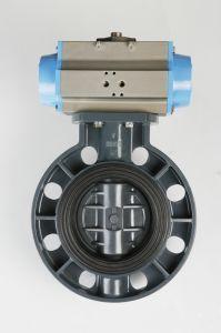 Valve papillon standard en PVC JIS pour l'approvisionnement en eau