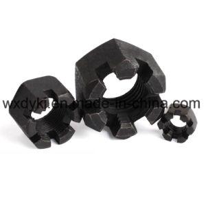 935 de classe 8 DIN hexagone noir fendu l'écrou crénelé hexagonal