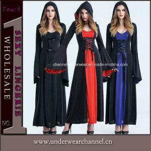 Carnaval de fantasía para adultos chicas fiesta de Halloween Bruja sexy traje de vestir (TLZQ6511)
