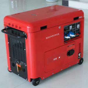 バイソン(中国) BS6500dse 5kw 5kVA 5000W 1年の保証のホーム力の販売のための携帯用10HPディーゼル発電機セット