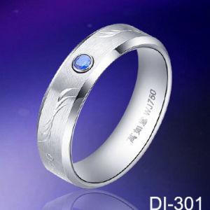 Ringen van Men&acutes van het Huwelijk van het Wolfram van de Diamant van de manier de Witte