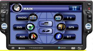 GPS 기능을%s 가진 7 인치 1 DIN 에서 돌진 접촉 스크린 차 DVD 플레이어, 텔레비젼, SD, USB 의 iPod, 이중 지역