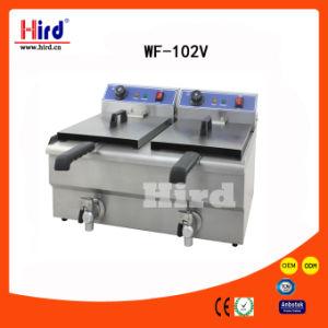 Freidora eléctrica (WF-102V) (válvula de doble depósito) CE Bakery Equipment Instalaciones para barbacoa Catering máquina de alimentos equipos de cocina Equipo de Hotel máquina de hornear
