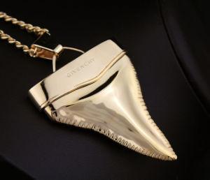 Collana francese della catena del maglione dei denti dello squalo di G dei monili di modo