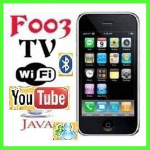 Telefone Móvel WiFi TV quad band com duplo SIM (F003)