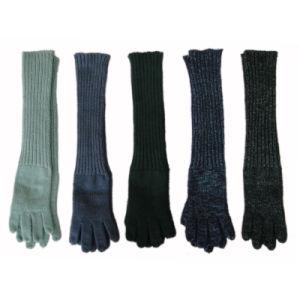 女性柔らかいSilklyは長い袖口の手袋を好む