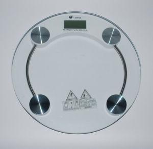 scala di stanza da bagno di vetro della piattaforma elettronica 180kg/0.1kg