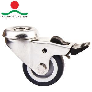TPR légers en acier inoxydable roue pivotante pour meubles